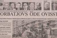 SvD:s förstasida 20 augusti 1991.