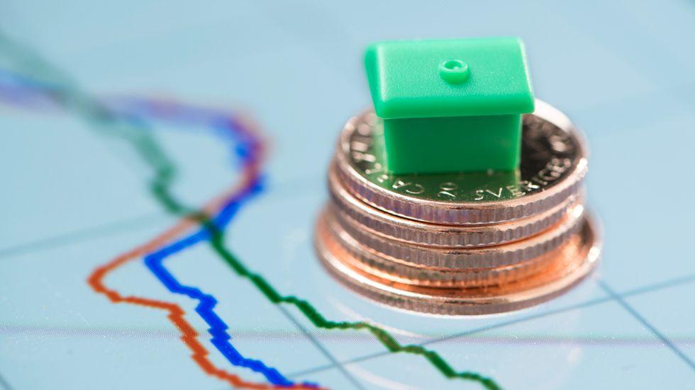 Färre tror på stigande bostadspriser. Arkivbild.