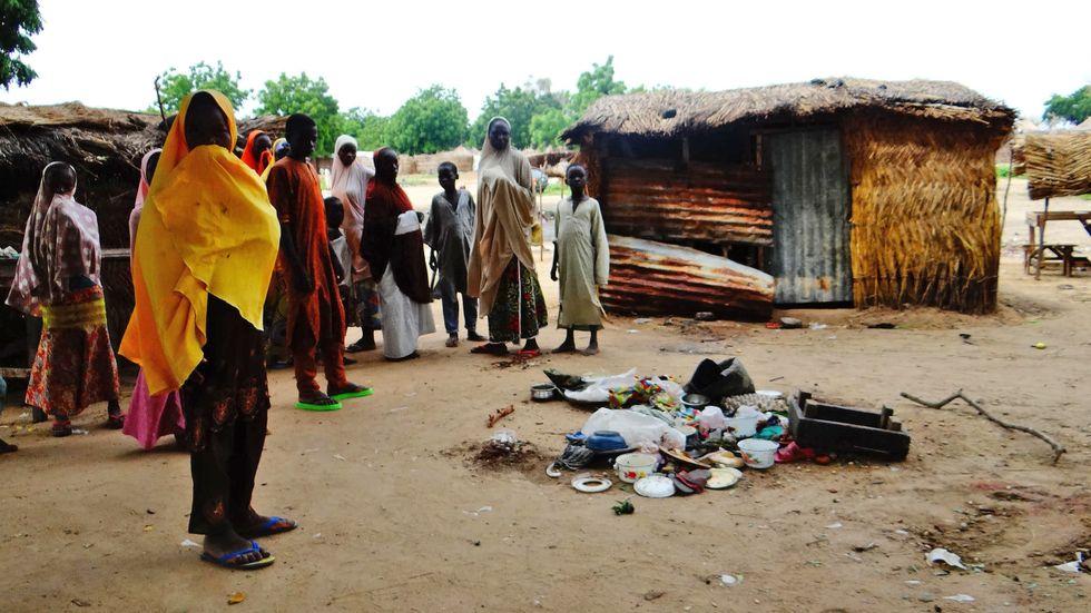 Vid den här marknaden i Konduga, utanför Maiduguri, genomförde Boko Haram ett självmordsdåd i augusti. Extremisterna har bytt taktik, vilket i större utsträckning drabbar civila.