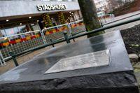 Stenskulptur sattes tidigt på söndagen upp, olovligt, utanför Stadshuset i Malmö