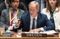 Sveriges FN-ambassadör Olof Skoog.