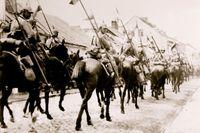 Tyska soldater i den lilla staden Łowicz.