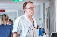 Johan Styrud, läkare på Danderyds sjukhus och ordförande läkarföreningen,  tillsammans med Jörgen Ekström, sjuksköterska på Handens närakut som också sitter i styrelsen för Vårdförbundet.
