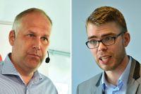 Jonas Sjöstedt (V) och Anders Wallner (MP)