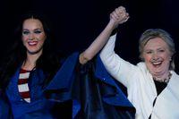 Katy Perry stödde Hillary Clinton i det amerikanska presidentvalet.