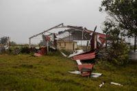 Orkanen Grace slår hårt mot orten Tecclutla i den mexikanska delstaen Veracruz.