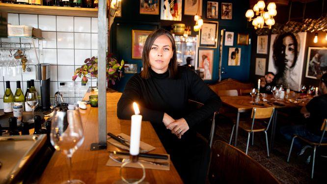 Sandra Mastio, gastronomisk ledare på restaurang Mastio i stadsdelen Limhamn i Malmö.