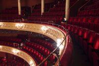 Första, andra och tredje raden på Kungliga Operan.