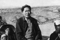 Mao under inbördeskriget mot Chiang Kai-sheks Guomindang, 1947.