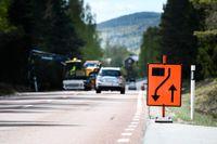 Sommarens 300 vägarbeten är riskfulla arbetsplatser. Arkivbild.