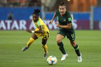 Lisa De Vanna i en VM-match med Australien 2019. Arkivbild.