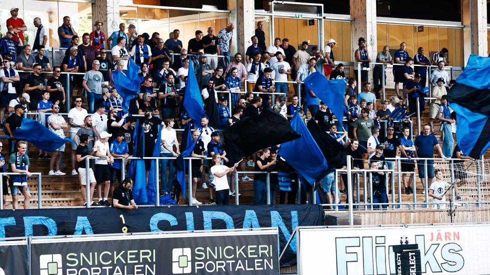 Större flaggor kommer inte att tillåtas på Studenternas i Uppsala när Sirius på onsdagskvällen tar emot IFK Norrköping. Arkivbild