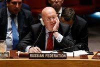 Rysslands FN-ambassadör Vassilij Nebenzia. Arkivbild.