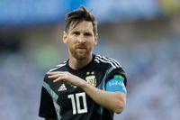 Lionel Messis bolag i skatteparadiset Panama beskrivs som aktivt trots att fotbollsstjärnan påstått motsatsen. Bild från VM-matchen Argentina–Island i lördags.
