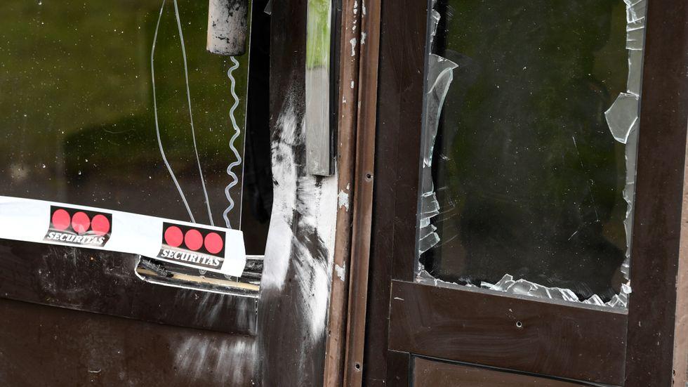 Skador efter en explosion vid ett flerfamiljshus i Malmö. Arkivbild.
