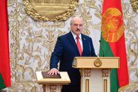 Belarus president Alexandr Lukasjenko svär eden den 23 september och inleder en sjätte mandatperiod som president. Arkivbild.