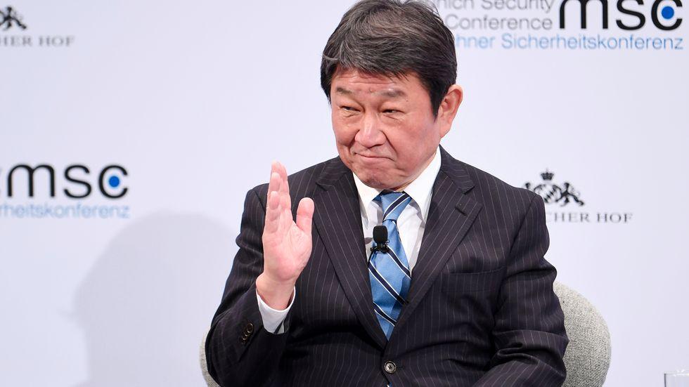 Japans utrikesminister Toshimitsu Motegi. Arkivfoto.