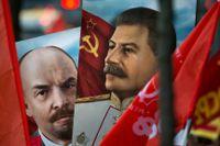 V I Lenin och J V Stalin.