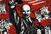 Vladimir Lenin på sovjetisk propagandaaffisch.