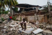 Ett raserat sjukhus i Fleurant i Haiti.
