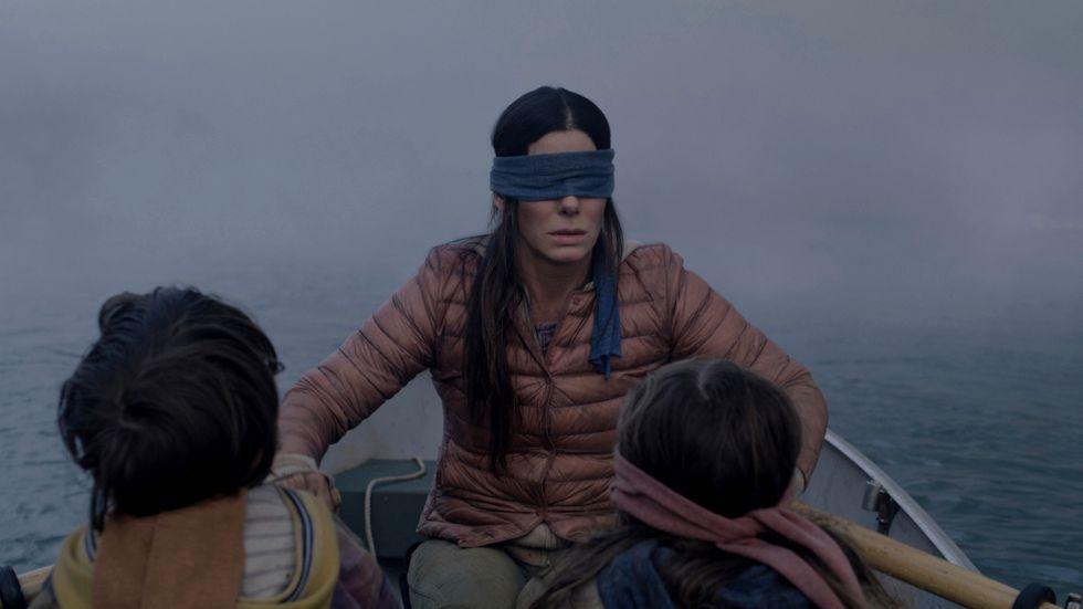 """Sandra Bullock spelar huvudrollen i filmen """"Bird box"""". Arkivbild."""