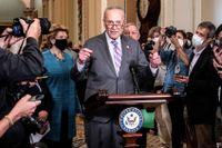 Senatens majoritetsledare, demokraten Chuck Schumer.