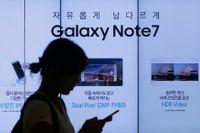 Samsung tvingades lägga ned flaggskeppsmodellen Galaxy Note 7. Arkivbild.