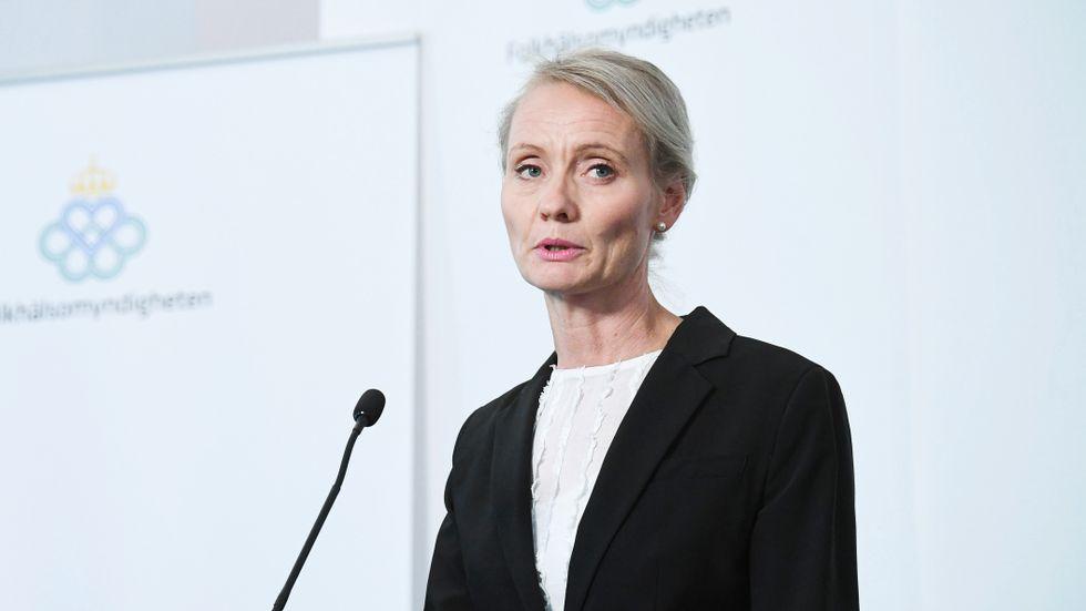 Karin Tegmark-Wisell, avdelningschef på Folkhälsomyndigheten.