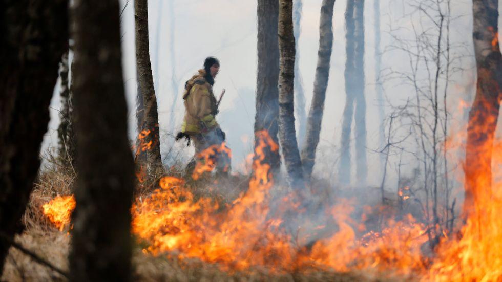 Riskerna för skogs- och gräsbrand kom tidigare under våren än vad som är vanligt, berättar brandingenjören Leif Sandahl. Arkivbild.