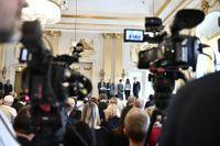 Det blir inte lika mycket folk på plats i Börshuset i år, när Nobelpriset i litteratur tillkännages. Arkivbild.