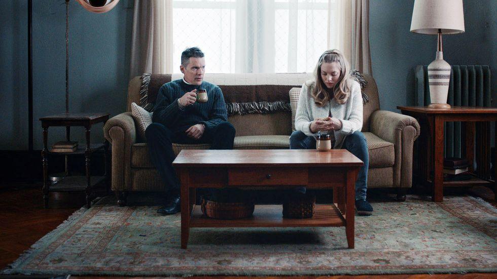 """Ethan Hawke och Amanda Seyfried i """"First reformed""""."""