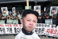 Demonstrationer i Sydkorea på årsdagen av Kim Jong-ils död tidigare i veckan.