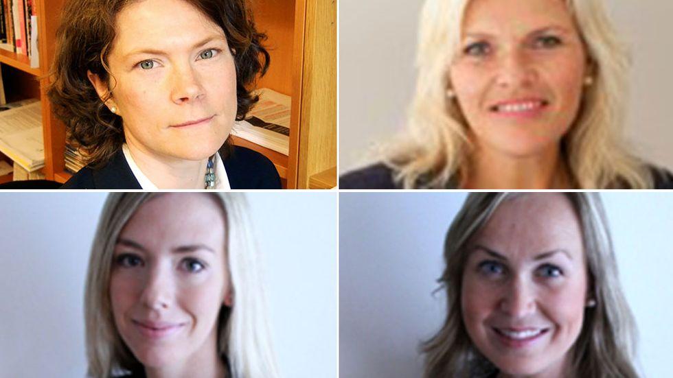 Ruth Nordström, Liv Kjersti Skjeggestad Thoresen, Rebecca Ahlstrand och Helena D´Arcy.
