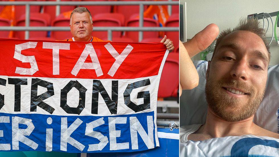 Christian Eriksen tackade för alla hälsningar tidigare i veckan.