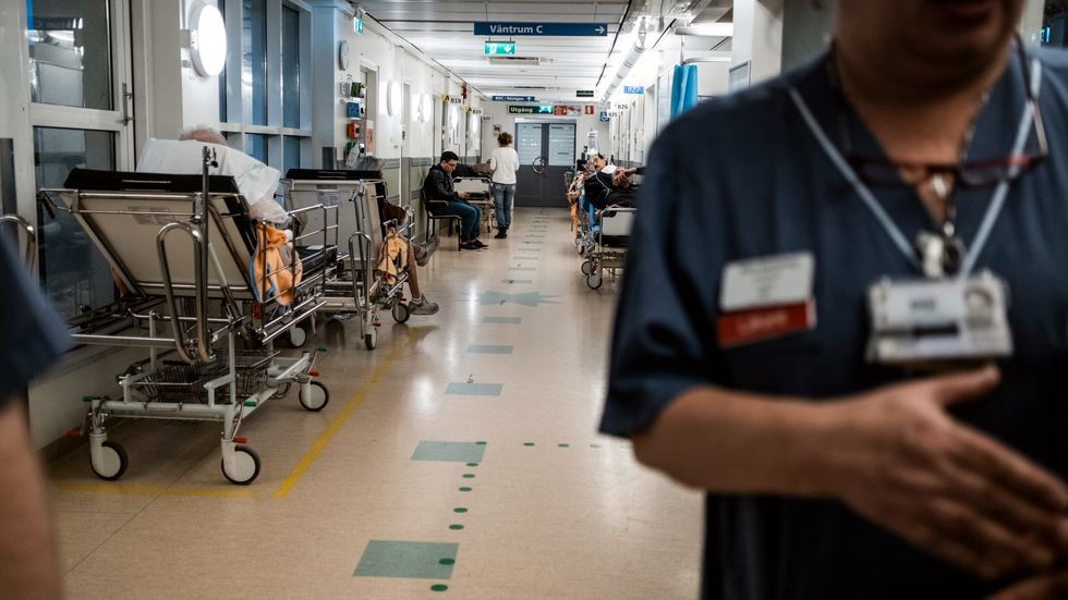 Akuten på Södersjukhuset. Bild från tidigare i februari.