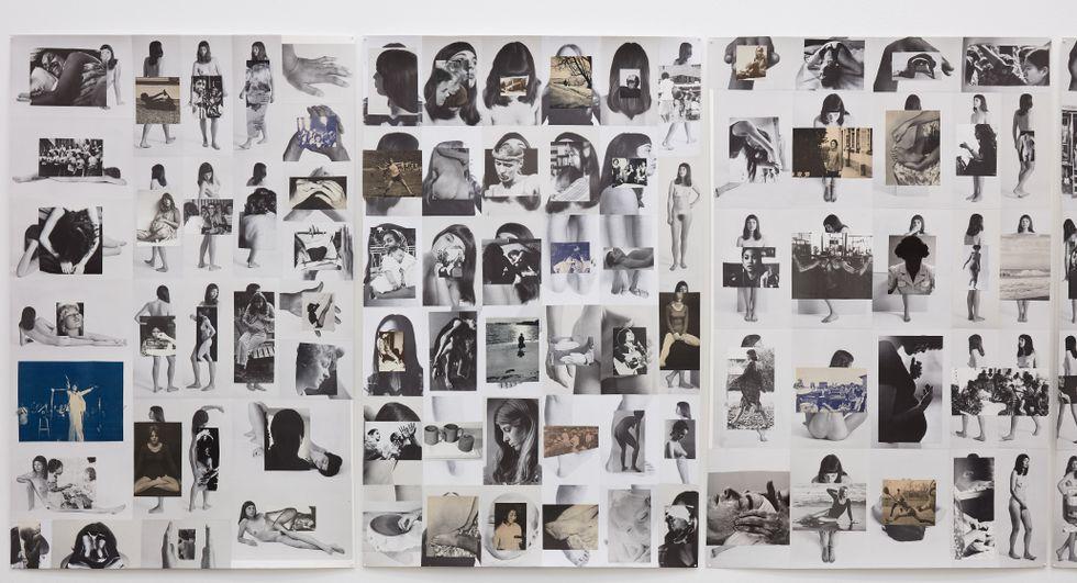 "Carmen Winant, ""Body/Index"", installationsvy på Stene Projects."