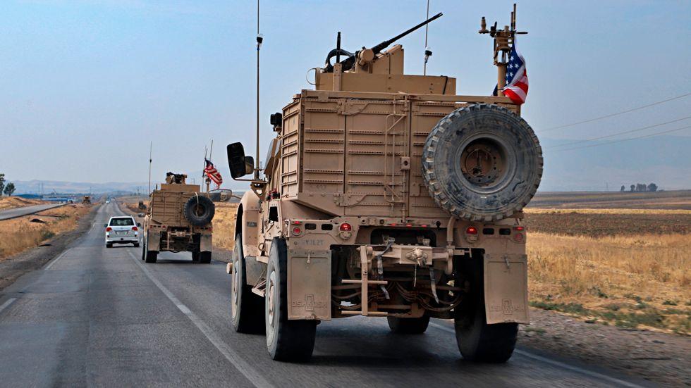 En amerikansk militärkonvoj nära Dahuk i Irak, den 21 oktober.