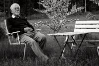 Författaren och SvD-skribenten Lars Gustafsson (1936–2016).
