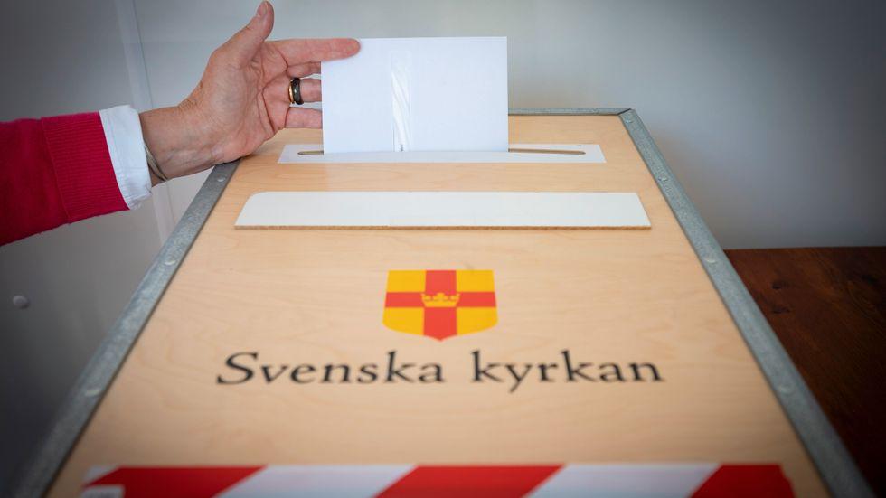 Något färre röstade i årets kyrkoval jämfört med förra gången 2017. Arkivbild.