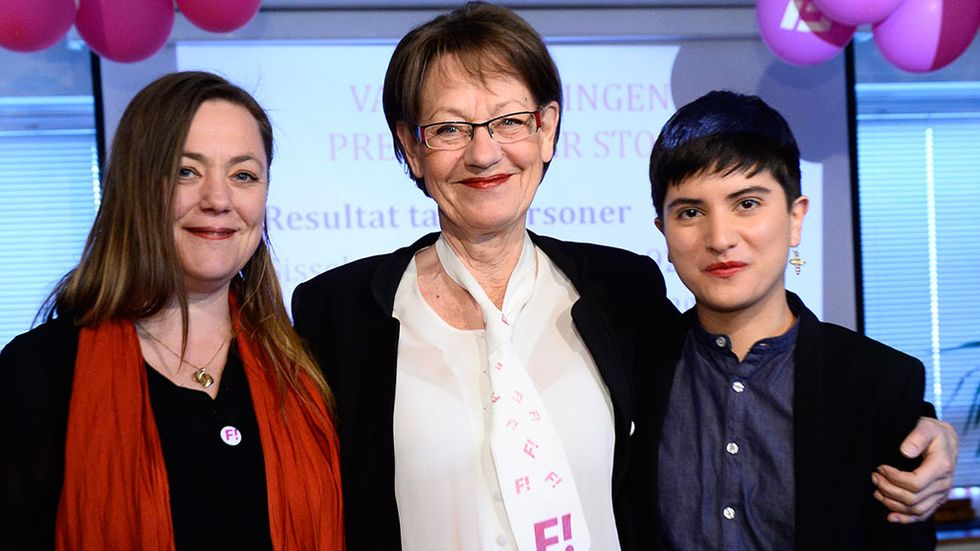 Sissela Nordling Blanco, Gudrun Schyman och Stina Svensson.