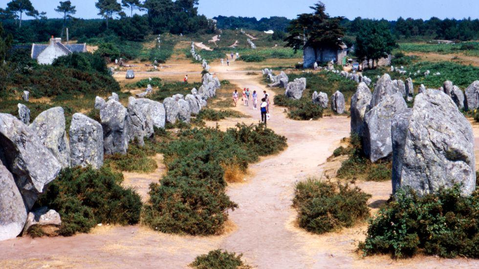 Megaliter i franska Carnac, inte långt från Bretagnes kust.