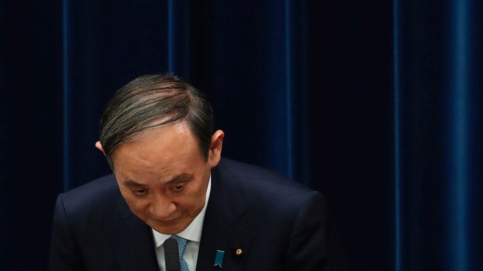 Vem ska ta över efter Japans premiärminister Yoshihide Suga? Valet inom Liberaldemokraterna påverkar Tokyobörsen. Arkivbild.