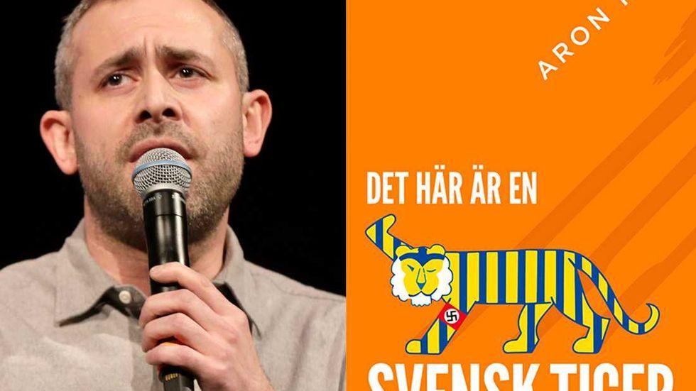 """Aron Flam och hans bok """"Det här är en svensk tiger""""."""