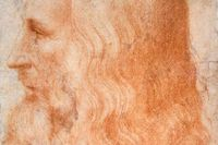 Leonardo da Vinci (1454–1919), samtida porträtt av Francesco Melzi (beskuret).