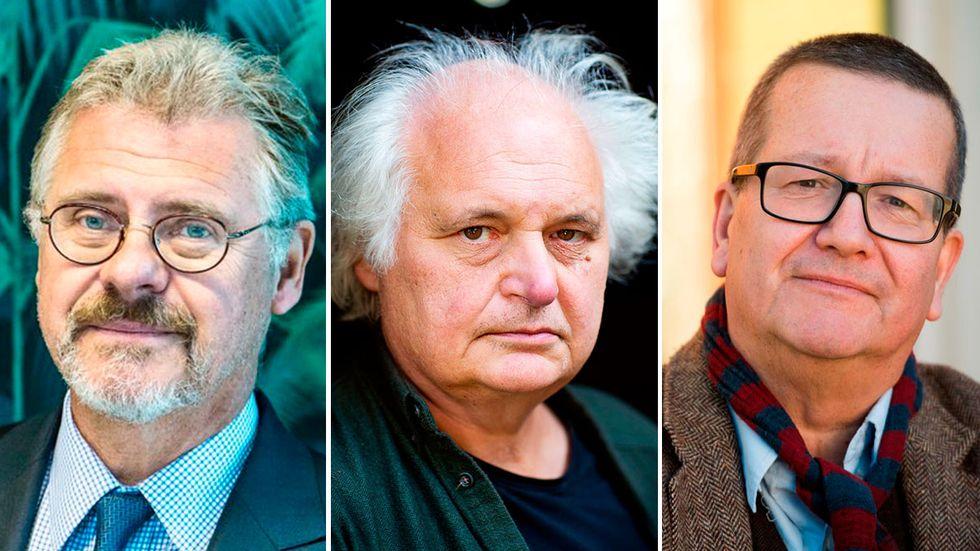 Klas Eklund, Göran Greider och Stig-Björn Ljunggren.