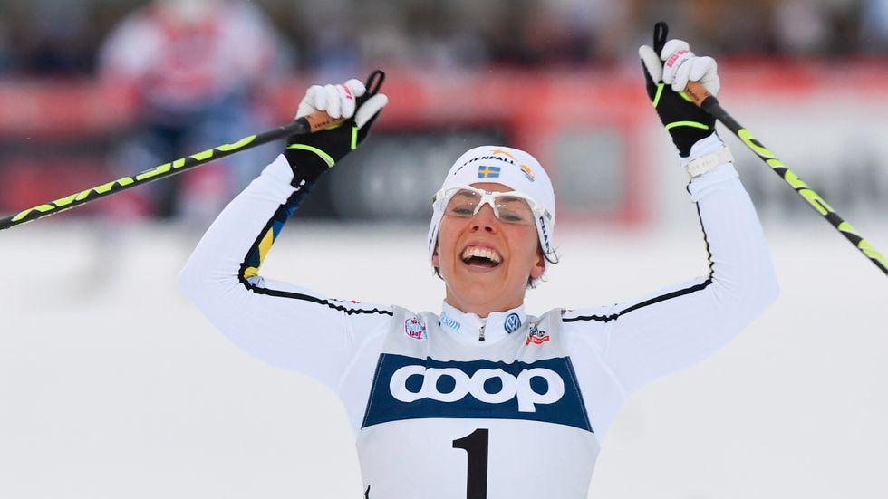 Nej, vad kul – jag vann! Så tänkte kanske Charlotte Kalla när hon vann i 10 kilometer jaktstart vid världscupen i Ruka i Finland i slutet av förra året.