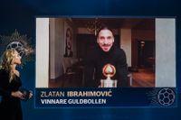 Zlatan Ibrahimovic med sin tolfte guldboll. Arkivbild.