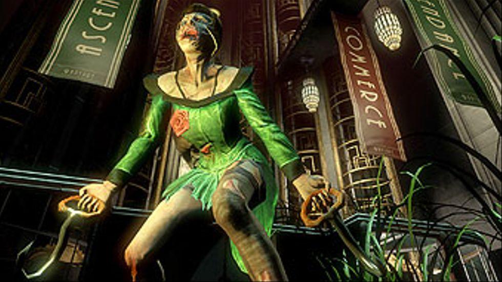 Köttkrokar, hålögda flickor och bepansrade lunsar som kallas Big Daddys möter spelaren i Bioshock.
