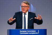 EU-kommissionären med ansvar för arbetsmarknadsfrågor, Nicolas Schmit, lägger i dag fram förslag om minimilöner i EU. Svenska fack och arbetsgivare bävar. Arkivbild.