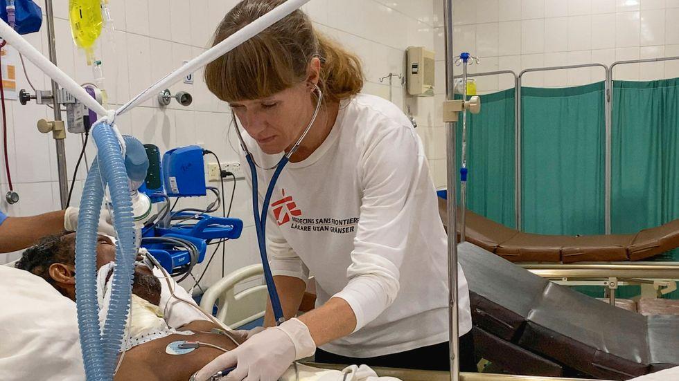 Läkaren Anna-Marit Löfmark, Läkare utan gränser.